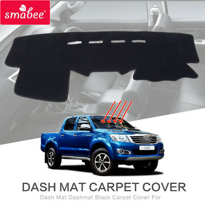 Dash Mat Dashmat Black Carpet Cover For TOYOTA Hilux Revo 2012-2014 Sunscreen