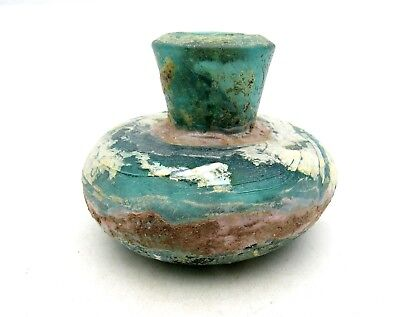 Roman Glass Flask - Rare Artifact - L114