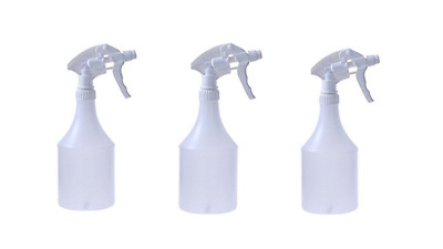 3 x Trigger Spray Bottles Heavy Duty Adjustable Spray Cleaning Valeting Sturdy
