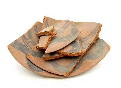 Lot Of Indus Valley Terracotta Pottery Fragments  - Rare Artifact Superb - L122