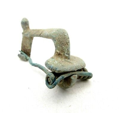Roman Bronze Knee Brooch/fibula - Rare Ancient Historical Artifact Superb - D34