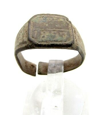 Late / Post Medieval Personal Ring W/ 1897 - Rare Wearable Artifact - D48