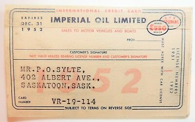 Imperial Oil 1952   Complete Card And Plastic Sleeve