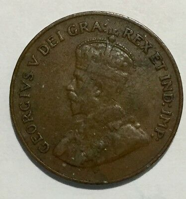 1923 Canada 1 Cent Small Cent Penny Key Date