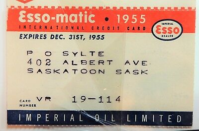 Esso-Matic Imperial Oil 1955   Complete Credit Card