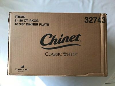 "Chinet Classic White 10 3/8"" Dinner Plates, Case of 240 New"