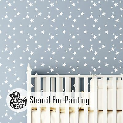 5-POINT STAR CLUSTER Wall Stencil for Painting