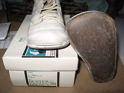 Vintage Wikler Shoe by BUSTER BROWN 6.5D White w Box 6-1/2