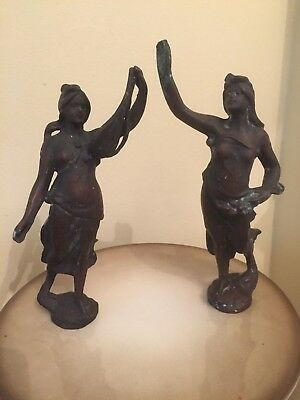 A pair of  French spelter figures