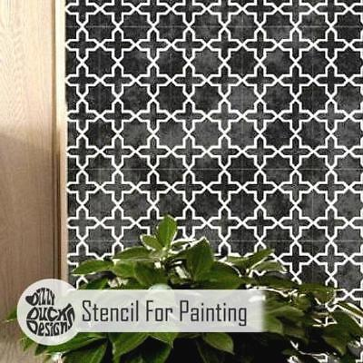 RABAT Moroccan Furniture Wall Floor Stencil for Painting