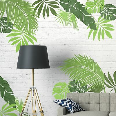 JUNGLE LEAF SET OF 6 Furniture Wall Floor Stencils for Painting