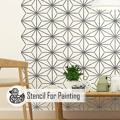 KYOTO Furniture Wall Floor Stencil for Painting