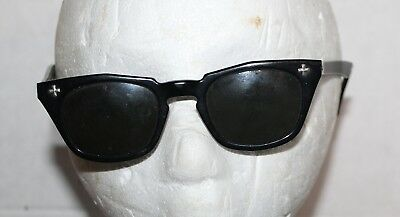 Vintage Black Bausch & Lomb Safety Glasses B & L 5 3/4