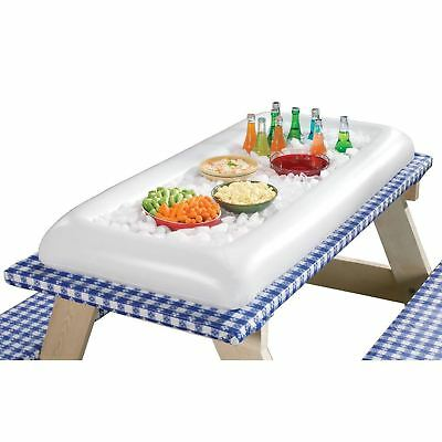 Inflatable Salad Pool Bar Floating Beer Drink Cooler Party BBQ Picnic Ice Tray