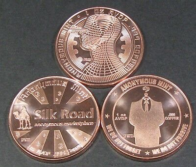 3ozs - 1ea Bit Coin - Guardian - Silk Road - We Do Not Forget - FREE SHIPPING