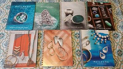 Lot 7 Silpada Reference Jewelry Product Guides Catalog 2012-2016, spiral, tabs.