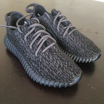 b08dfda33c000 Adidas Yeezy 350 Pirate Black Boost 2015 2016 Size 4.5 5 Near DS 100%  Authentic