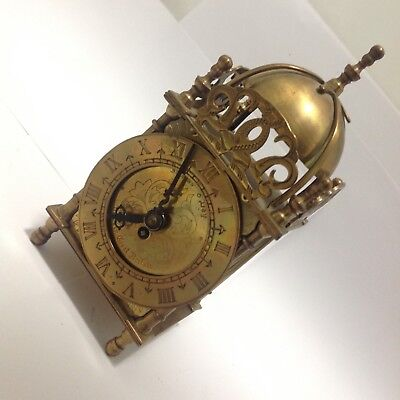 Smiths 19th Century Brass mantle carriage Clock mechanical movement needs attn.