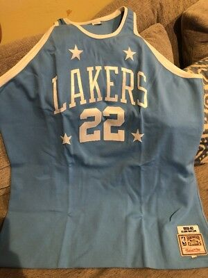 8a6a755a081 ELGIN BAYLOR LOS Angeles Lakers Authentic Mitchell & Ness Throwback ...