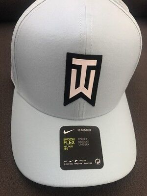af4a94032 NIKE TIGER WOODS TW Aerobill Classic 99 Fitted Golf Hat. M/L. Blue.  892482-452