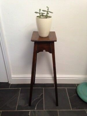 Vintage Wooden Plant Stand / Torchere - 80cm Tall