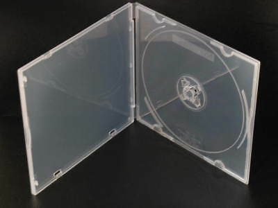 1000 Poly Case CD DVD BluRay ROM Storage Boxes music 2 disc hub durable box NEW
