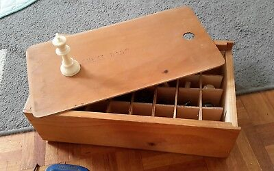 Vintage Chess Set In Bespoke Wooden Box