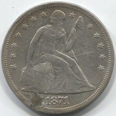 1871 Seated Dollar - Great Hole Filler!!