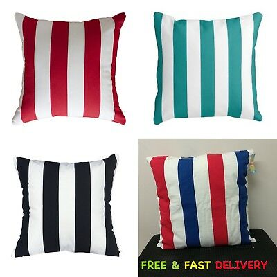 "Elegance 100% Cotton Printed Striped Cushion Covers, 18"" x 18"" Single OR Sets."