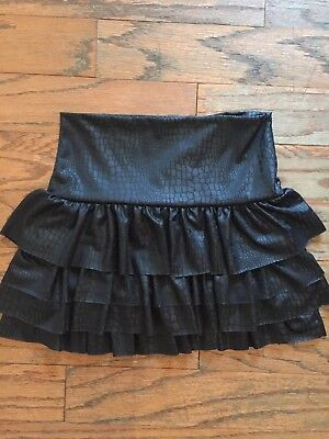 RANDOM HEARTS NWT Girls Faux Leather Skirt, Size Medium