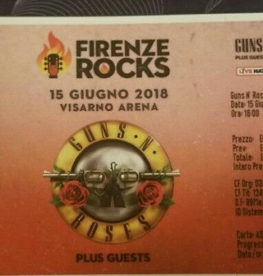 Biglietto - Ticket - Guns Roses - Firenze Rock -