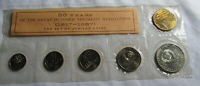 Russia 1967 50 Year Revolution Jubilee Coin Set
