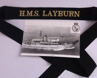 Hms Layburn Cap Tally, Royal Navy