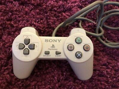 Two Sony Playstation 1 PS1 Official Gray Console Video Game Controller SCPH-1080