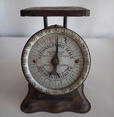 VINTAGE 1912 NATIONAL FAMILY SCALE Manufactured by AMERICAN CUTLERY CO., Kitchen