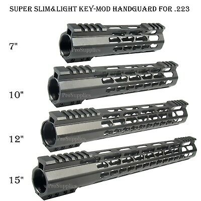 "7"" 10"" 12"" 15"" Super Slim Light KEYMOD Free Float Handguard Nut /w Top Cut"