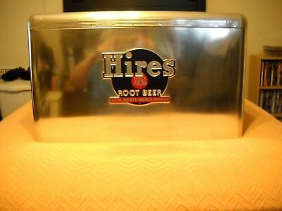 Vintage 1950S Hires Root Beer Aluminum Cooler Almost Mint With  Sandwich Tray