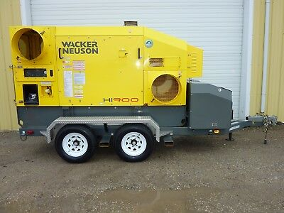 2013 Wacker Neuson HI900 Mobile Indirect Fired Air Heater 1300 Hours
