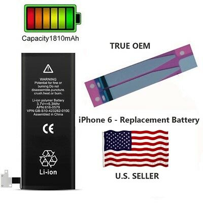 OEM Battery for Apple iPhone 6 1810mAh Original Replacement + Adhesive