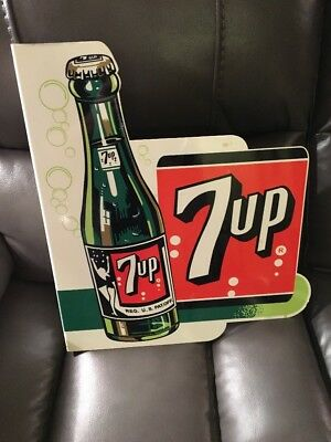 7 Up Metal Flange Sign Double Sided
