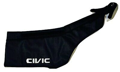 Honda Civic EK 1996 1997 1998 Bonnet Mask Hood Bra w/ Embroired Emblem
