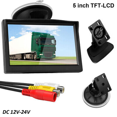 5 Inch HD 800*480 TFT-LCD Car Rear View Reverse Monitor 2 CH AV-In With Sucker