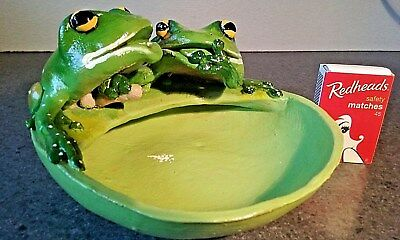 """""""Naughty Frog Collection""""  Bathroom ornaments on a Soap Dish"""