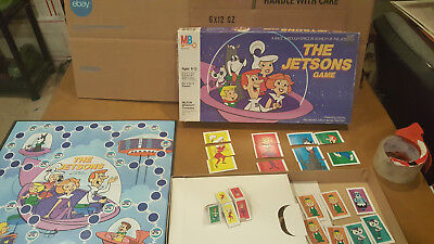 "Vintage 1985 Milton Bradley ""The Jetsons Game""  Board Game *INCOMPLETE* Parts"