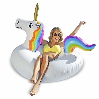 Giant Unicorn Swimming Pool Inflatable Party Float Water Toy