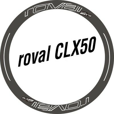 New Roval CLX 50 Rim / Disc Stickers Set for Two Carbon Wheels Road Bike Decals