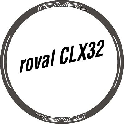 Two Wheel Set Stickers for ROVAL CLX 32 CLX32 Rim Disc Brake Road Bike Bicycle