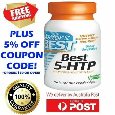 Doctor's Best 5-HTP 60 180 Capsules ASSIST NATURAL MELATONIN 5HTP TRYPTOPHAN ZMA