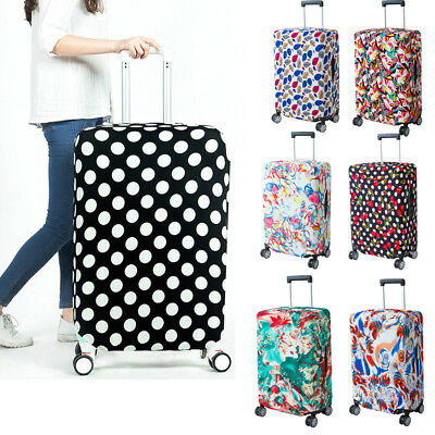 """18-28"""" Elastic Travel Luggage Cover Spandex Dust-Proof Suitcase Protector Bag"""