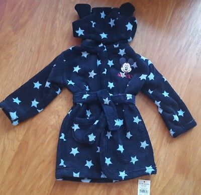 BNWT DISNEY BOYS MICKEY MOUSE DRESSING GOWN AGE 12 - 18 months
